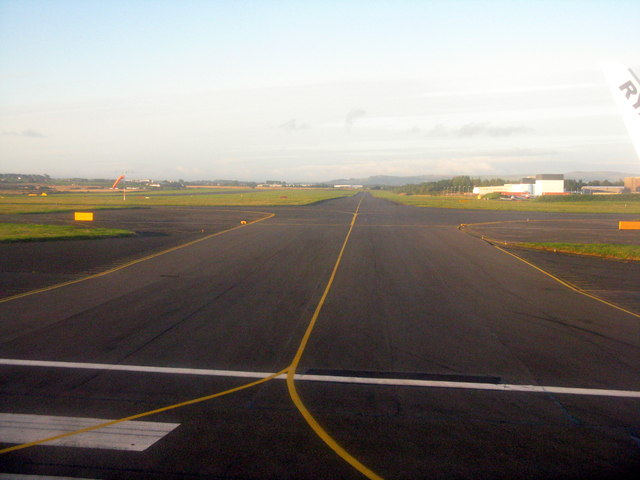 Taxiway at Prestwick Airport