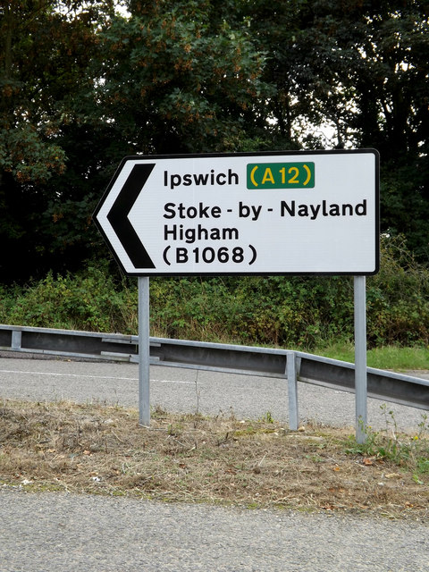 Roadsign on the A12 Ipswich Road
