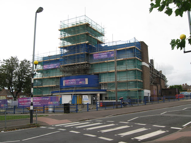 Shrouded in scaffolding still open-Kingstanding, Birmingham