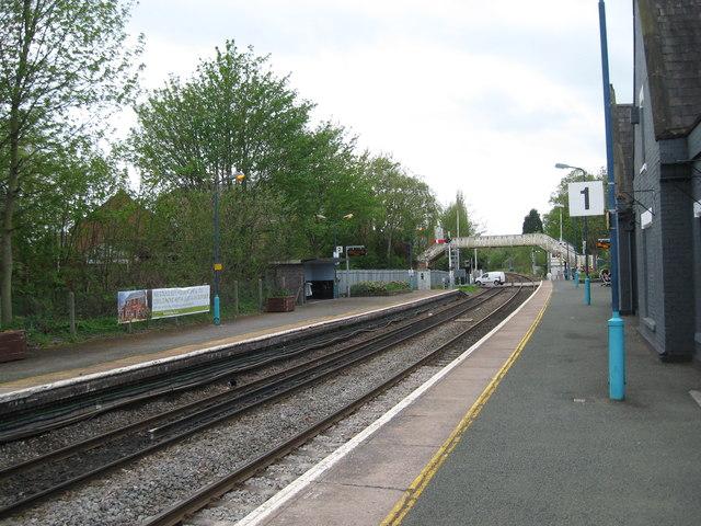 Platform 1 for Crewe-Nantwich, Cheshire
