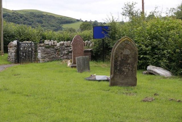 Churchyard near the gate