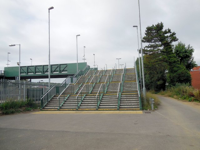 Footbridge across Falmer Station