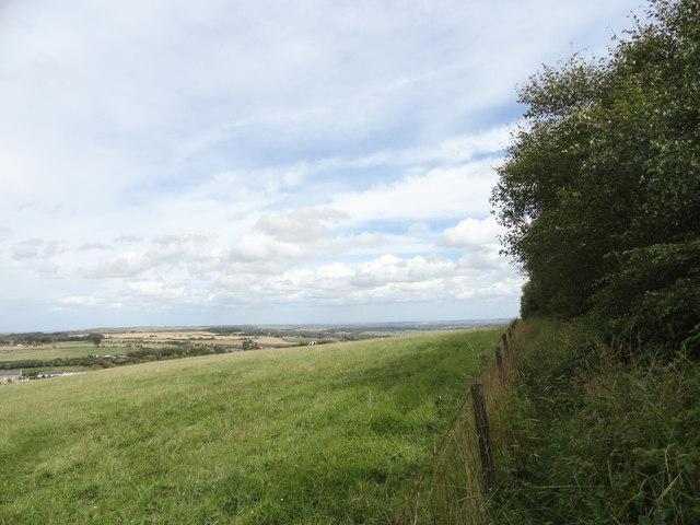 View east from Mountsett