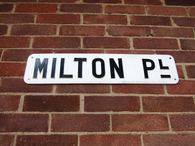 Vintage street nameplate, Milton Place, Gravesend