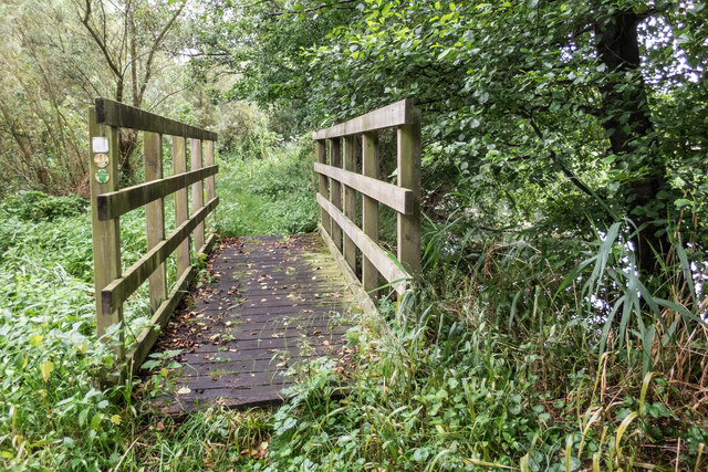 Footbridge beside Little Ouse River