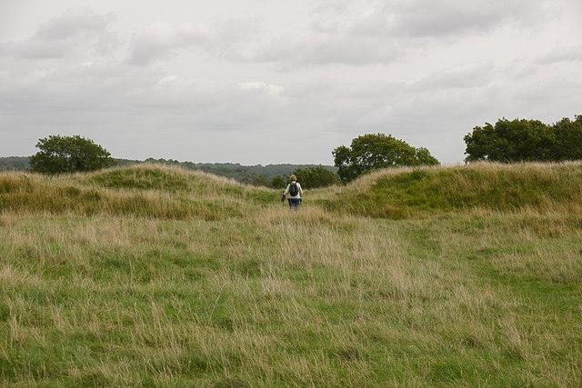 Between the western ramparts