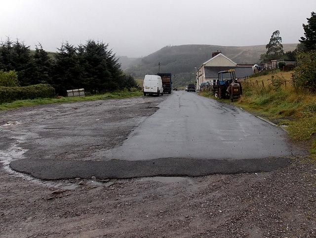 End of the road, Pwllcarn Terrace, Blaengarw