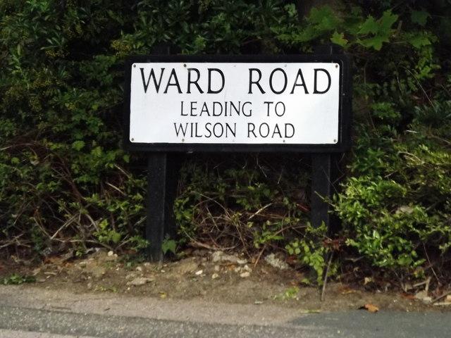 Ward Road sign