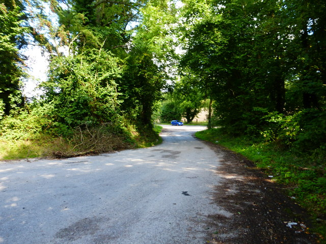 Road from oilfield to the B3349