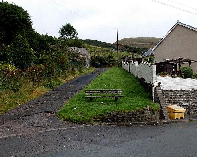 Queen Street bench, Blaengarw