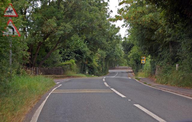 B3139 approaching Wookey