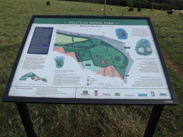 Belstead Brook Park Information Board