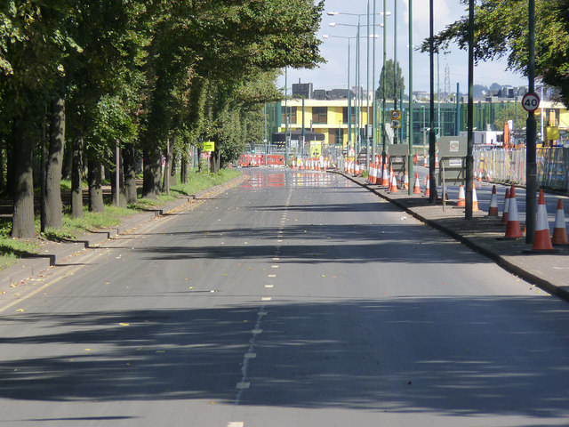 University Boulevard without traffic