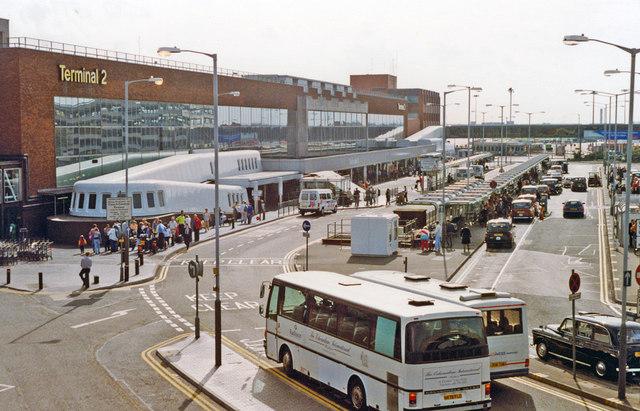Heathrow Airport: entrance to Terminal 2, 1992
