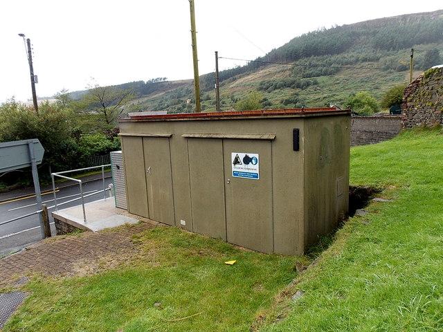 Utilities box on the corner of Katie Street and Gwendoline Street, Blaengarw