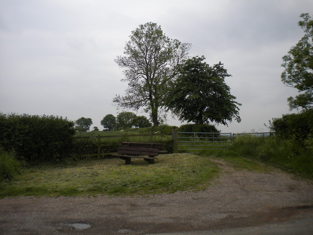 Isolated bench north of Goverton
