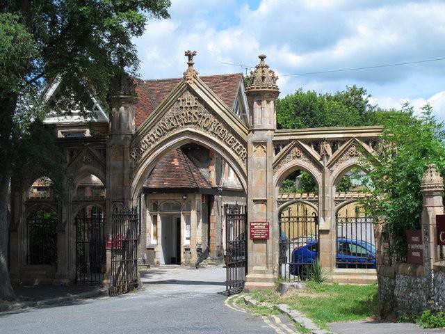 Entrance to the Brighton & Preston Cemetery, Hartington Road, BN2