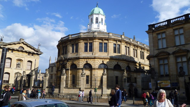 The Sheldonian Theatre from Broad Street