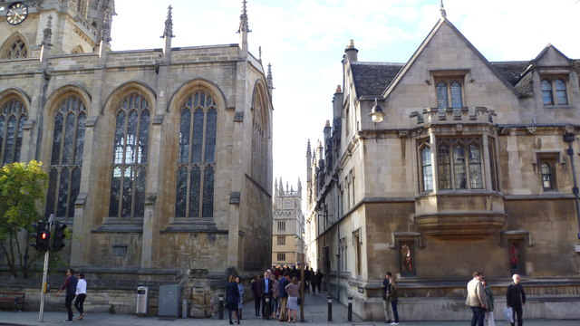 Southern end of Catte Street, Oxford