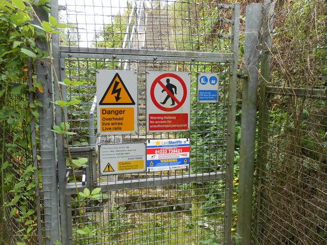 Access Gate 156, High Speed Line, near Ebbsfleet