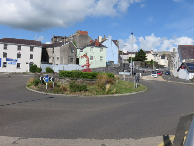 A roundabout in Carmarthen