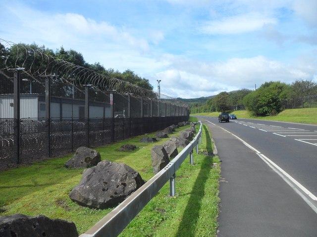 Boundary fence at HMNB Faslane