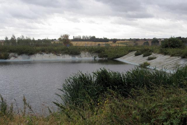 Reservoir in farmland