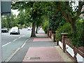 TQ3766 : Red paving, South Eden Park Road by Robin Webster