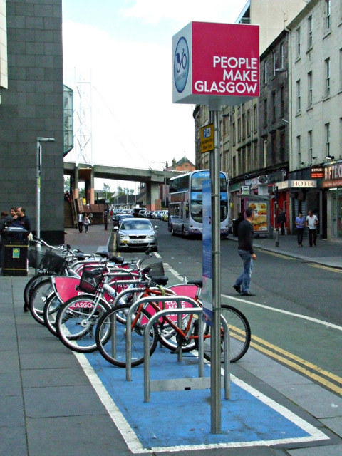 Nextbike Glasgow cycle hire point: St Enoch Square
