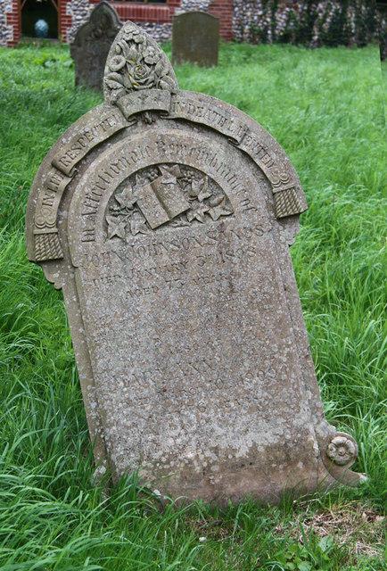 All Saints, Sharrington - Gravestone