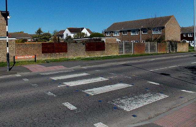 Zebra crossing near Dawes Close, Clevedon