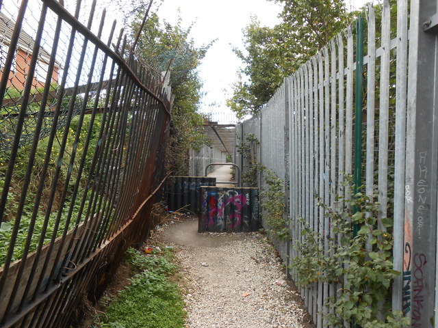 Footpath Leading to Footbridge, Northfleet