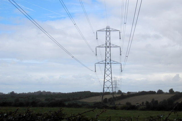 Pylons in the farm