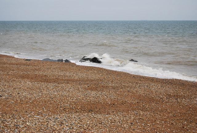 Rocks off the beach, Sandgate
