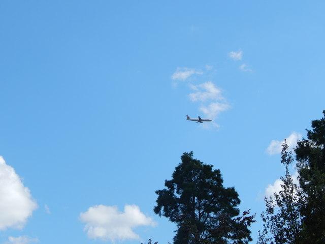 Plane above Kew Gardens