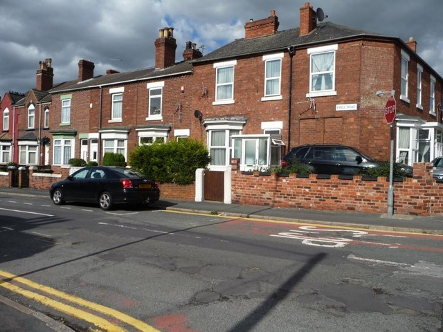 Houses on the east side of King's Road, Doncaster