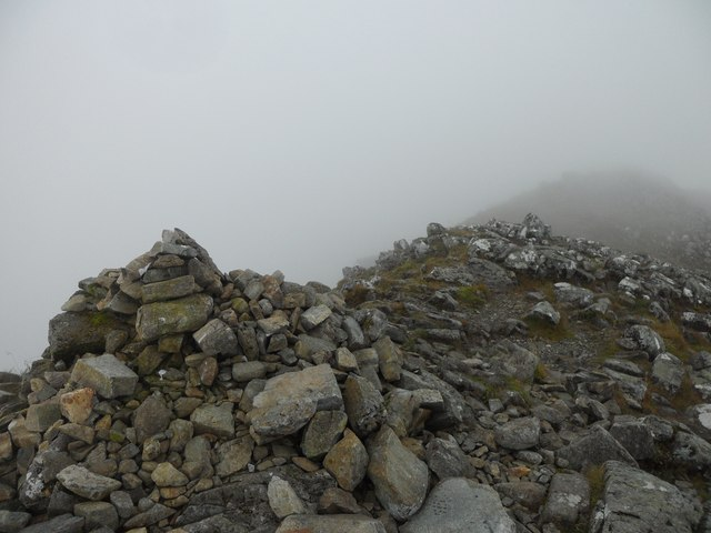 The rocky summit of Stob Dubh (Buachaille Etive Beag)