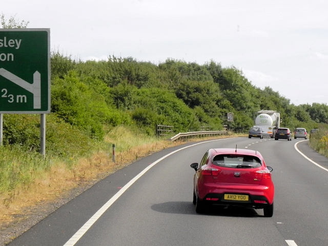 Southbound A34 near Gore Hill