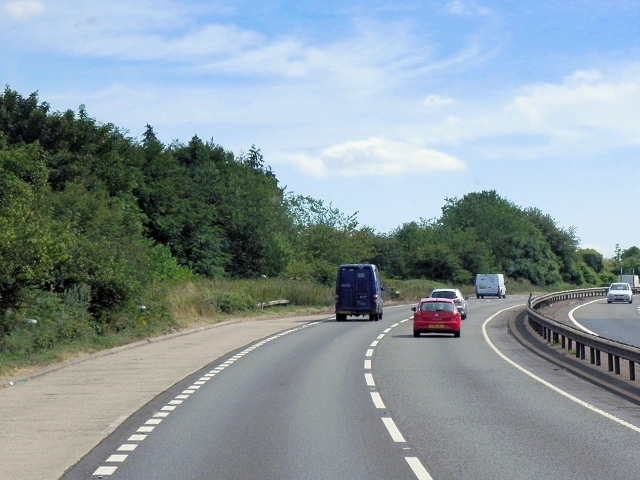 Layby on Southbound A34 near East Ilsey