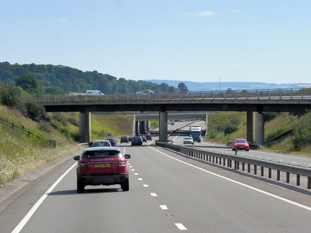 Southbound A34 at Chievely