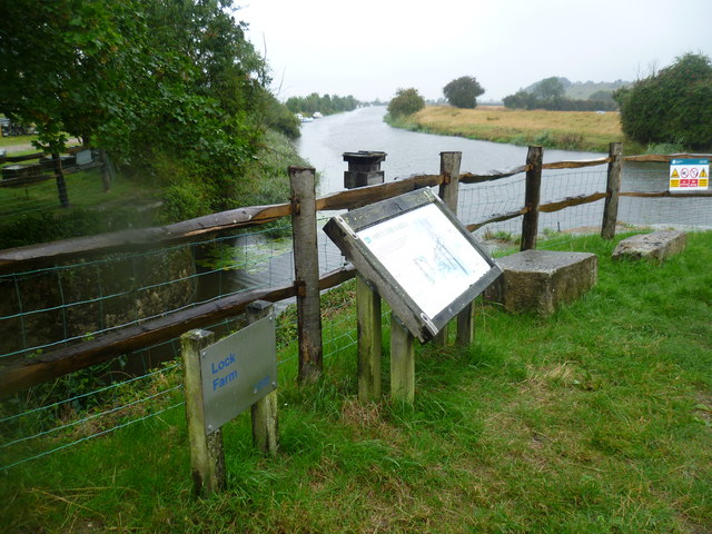 The Royal Military Canal joins the River Rother at Iden Lock