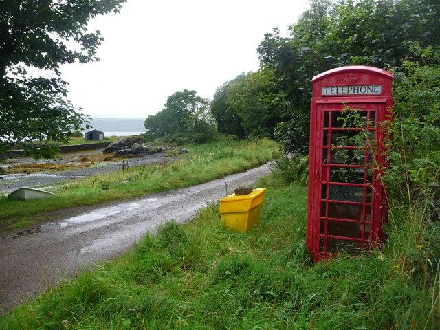 Drimnin: the telephone box
