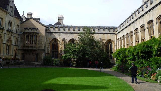 In Balliol College Front Quad, Oxford
