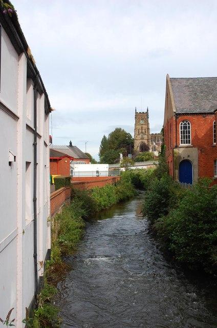 River Stour near the Bull Ring, Kidderminster
