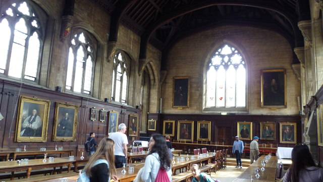 In Balliol College Dining Hall