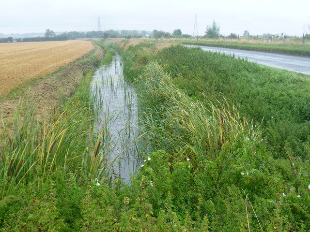Drainage ditch alongside Military Road