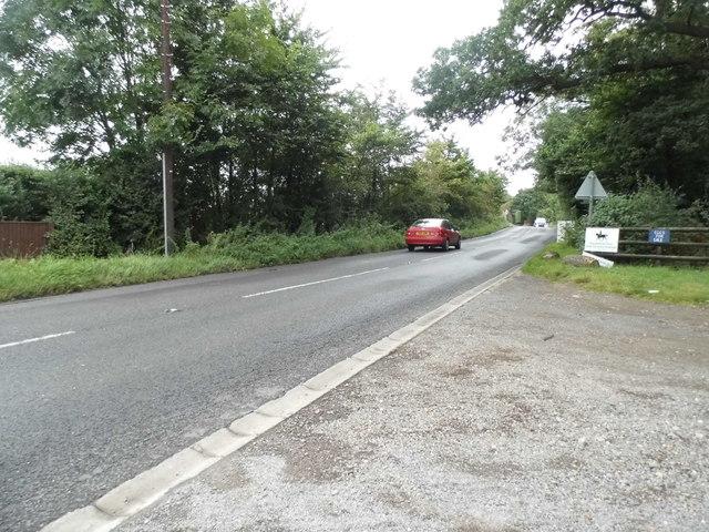 The entrance to Woodlands Park Stables on Woodlands Lane