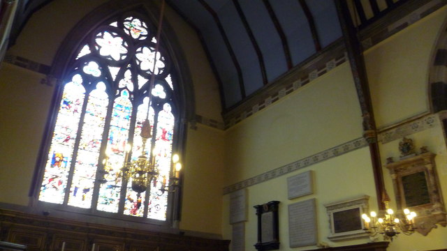 Part of the interior of Balliol College Chapel, Oxford