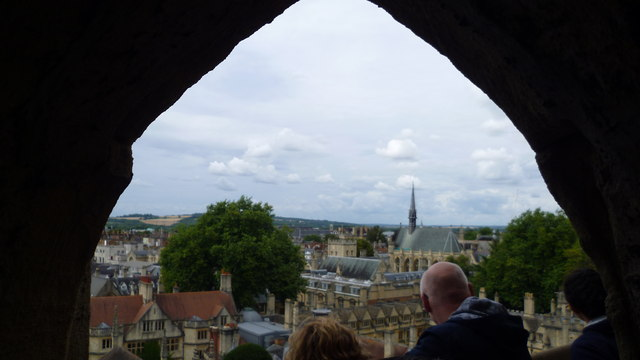 View over the dreaming spires of Oxford from the spire of St Mary the Virgin church