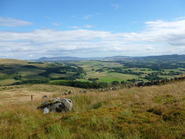 Looking into lower Glen Devon